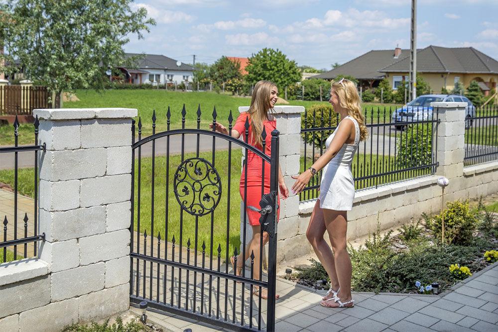 antik kerítéskő szürke