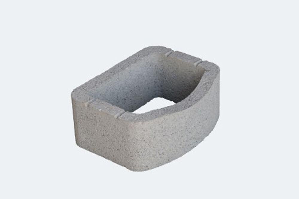 szürke beton támfal elem