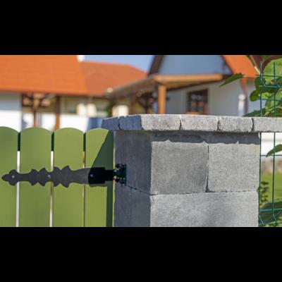 Antik kerítéskő Füstantracit színben